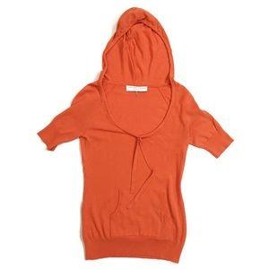 Trina Turk Burnt Orange Pullover Sweatshirt Hoodie